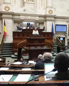photo lors de mon intervention au parloir de la Chambre